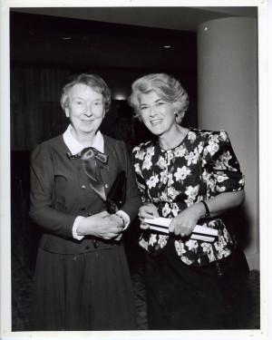 Mother Raymunde McKay with Geraldine Ferraro '56